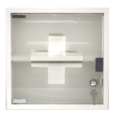 Cream Metal Locking First Aid Cabinet